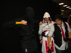 Ezio from Assassin's Creed Brotherhood and a ninja(?)