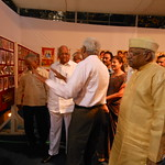 Sharad Pawar seeing Dr Prakash Joshis Collection in Exhibition, Y B Chawan Centre