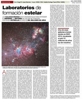 ZOCO Astronomía: Laboratorios de formación estelar | by Ángel López-Sánchez