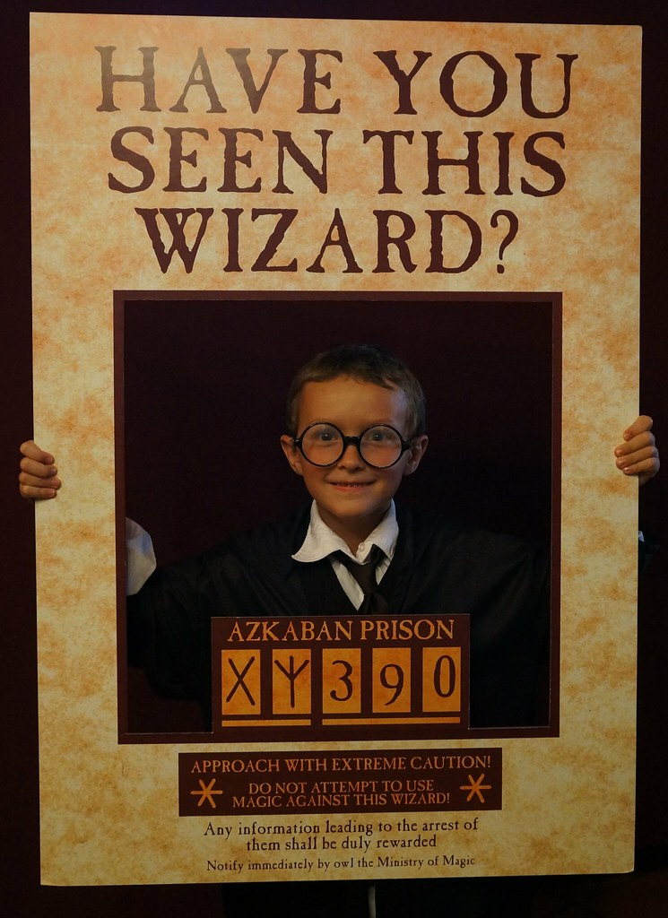 Wanted! Harry (Maximum) at Bookmans photo booth | Harry and