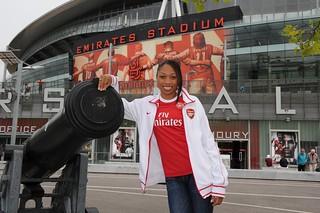 Arsenal fan Allyson Felix