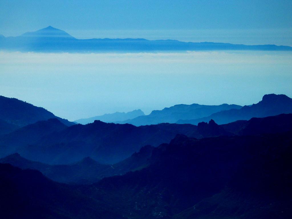 Gran Canaria El Teide Desde Gran Canaria The Teide In Tene