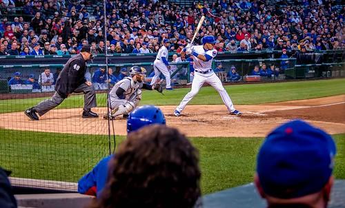 people chicago men sports illinois women baseball hats fences wrigleyfield fans spectators lakeview crowds chicagocubs wrigleyville umpires hss baseballplayers dugouts nikkor18300mm sliderssunday addisonrussell