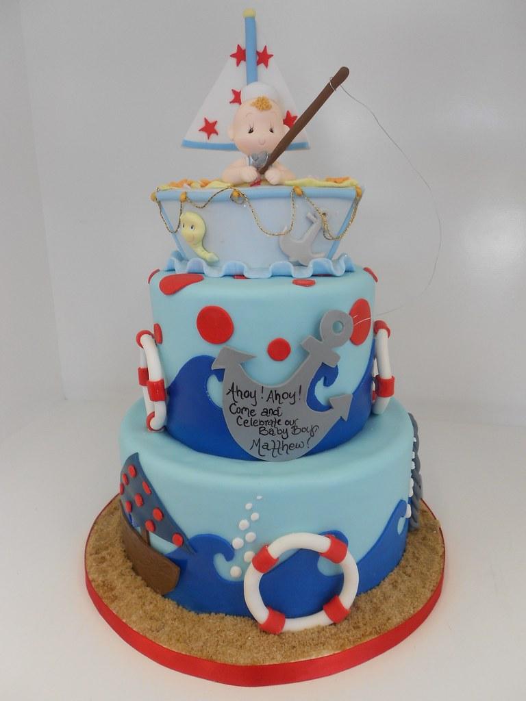 Nautical Baby Shower Cake 1242 818 363 9825 Www Asweetde Flickr