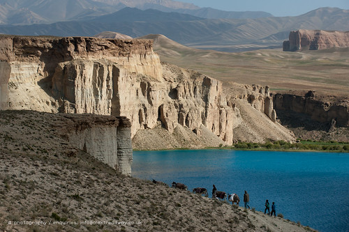 Donkeys and farmers make their way home along the lakeshore of Band-e Amir | by Alex Treadway