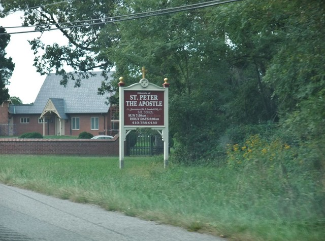St. Peter the Apostle Catholic Church, Maryland Eastern Shore, Queenstown, MD