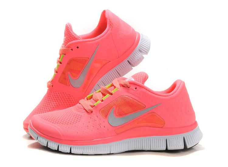 Kaufen Hot Punch Nike Free Run 3 Damen Coral Rosa Schuhe A