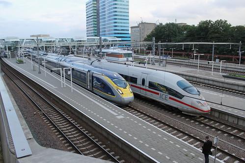 Eurostar 4014-4013 en ICE 4603(Arnhem 13-6-2016) | by Ronnie Venhorst
