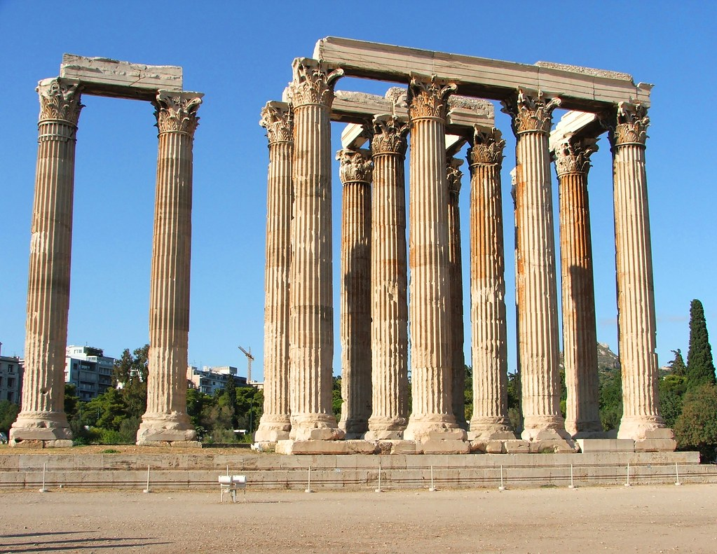 Ancient Greek columns, Athens