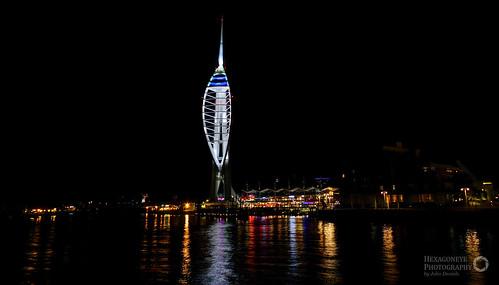 spinnaker tower night   by Hexagoneye Photography