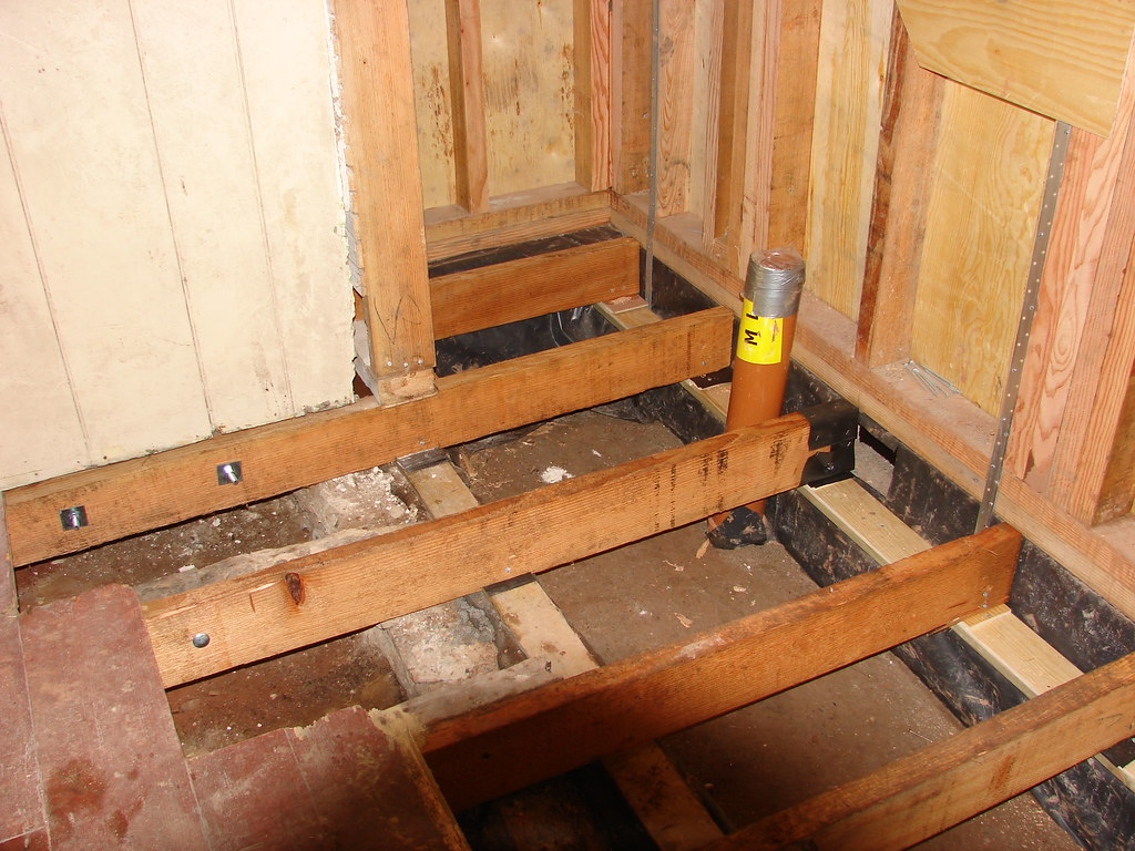 Kitchen floor joists   Addition extensions were added to the…   Flickr