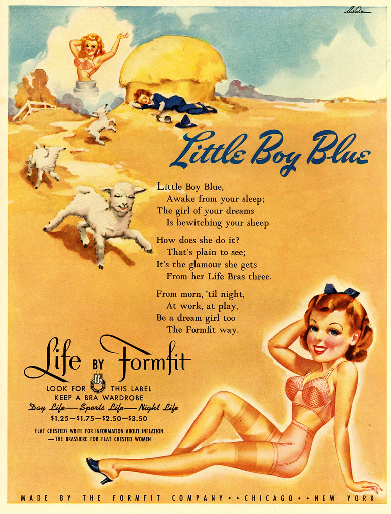 Little Boy Blue | 1942  Note the fine print at the bottom