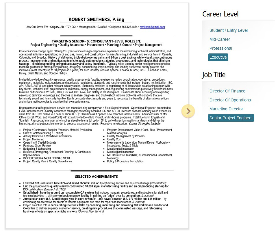 Resume and cv writing services ottawa