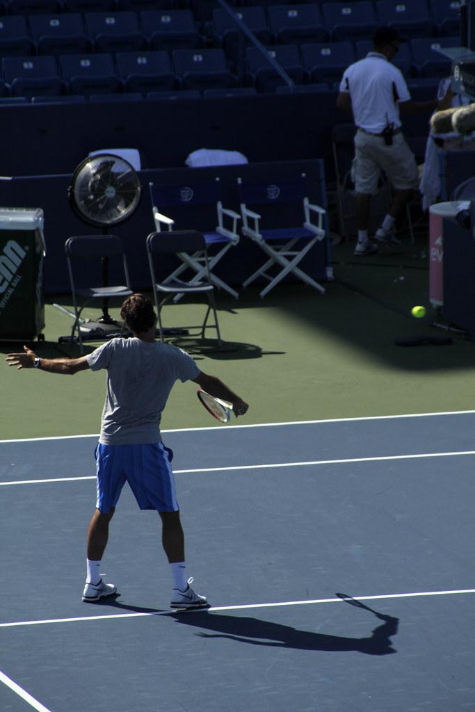 Roger Federer Practice Backhand Volley Ben Gauger Flickr