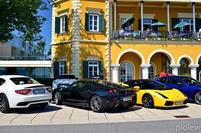 Maserati GranTurismo Coupe S MC Sport Line, Ferrari 430 Scuderia, Lamborghini Gallardo Spyder, Maserati GranTurismo MC Stradale & Nissan GT-R