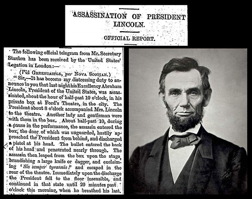 15th April 1865 - Assassination of President Abraham Lincoln | by Bradford Timeline