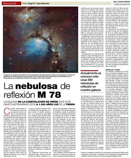 ZOCO Astronomía: La nebulosa de reflexión M78 | by Ángel López-Sánchez