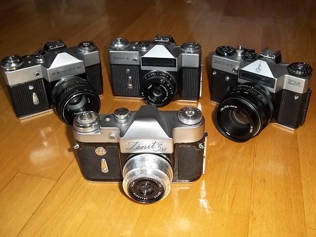 Vintage Camera - Zenit Silver Collection