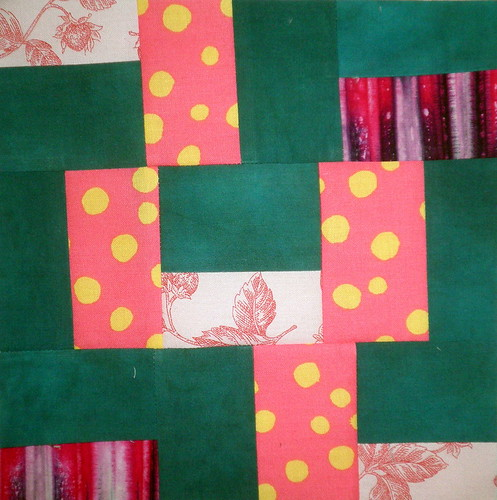 Block 2 - Peak Over the Fence - Quilting Blogger's Beginner's Quilt Along | by PersimonDreams