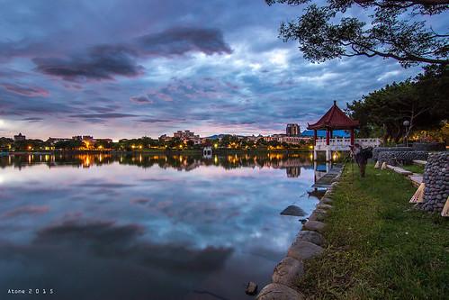 sunset canon star taiwan resort tokina 台灣 桃園 cpl 晨曦 日出 倒影 龍潭大池 atone 1116 600d 龍潭 色溫 龍潭大池日出