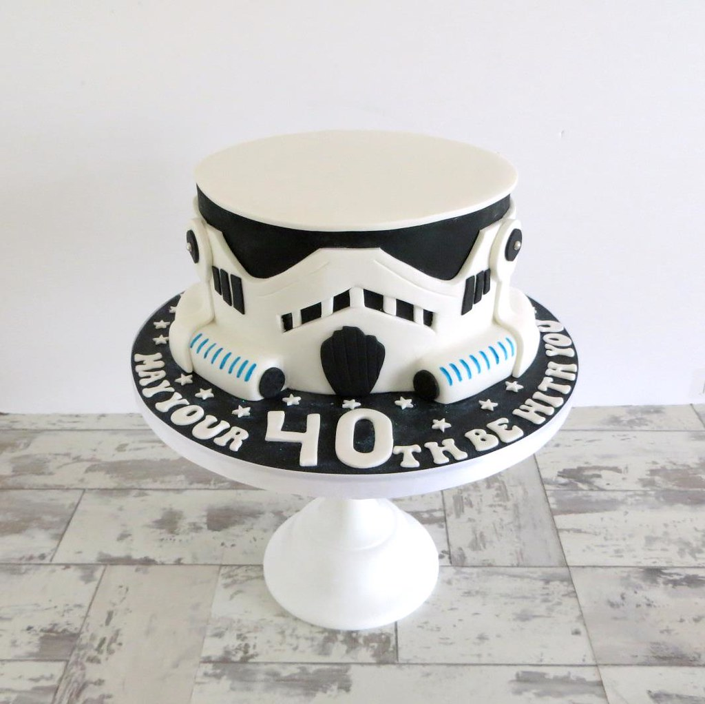 Strange Stormtrooper Birthday Cake A Cherry On Top Scotland Flickr Personalised Birthday Cards Paralily Jamesorg