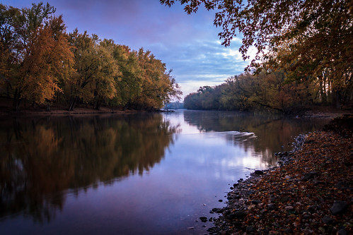 morning autumn trees orange reflection fall nature water leaves river landscape outdoors october rocks colorful riverside michigan pastel peaceful pebbles calm serene flowing riverbank grandriver tranquil