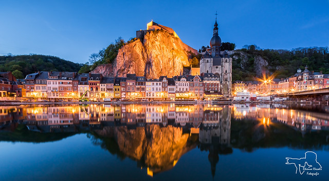 Dinant during the blue hour
