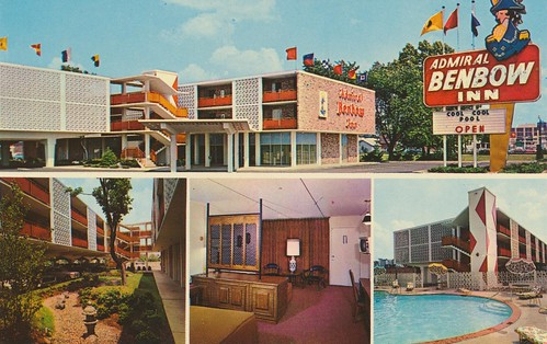 inn vintage postcard motel louisville kentucky quadview poolview roomview signview gardenview admiralbenbow