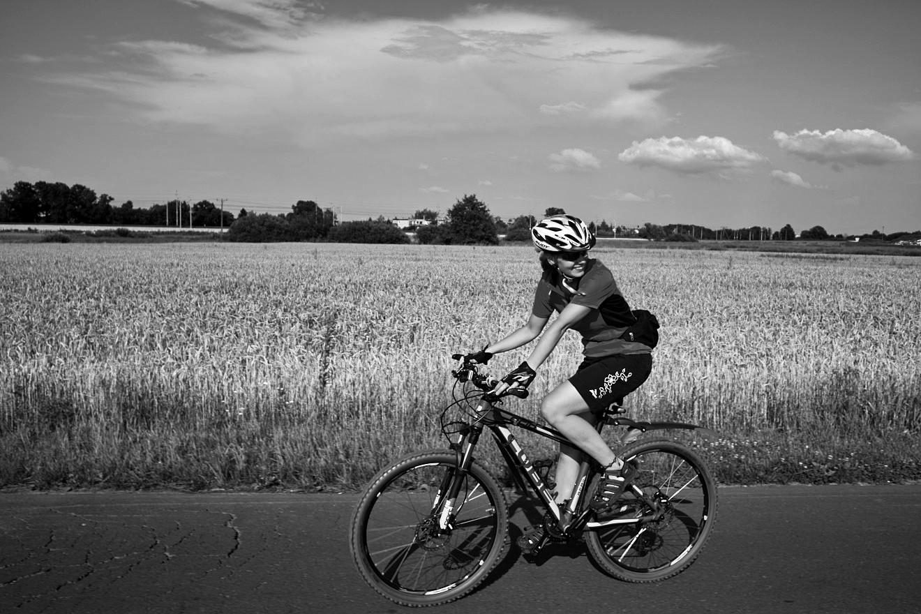 Potrącenie pieszego przez rower