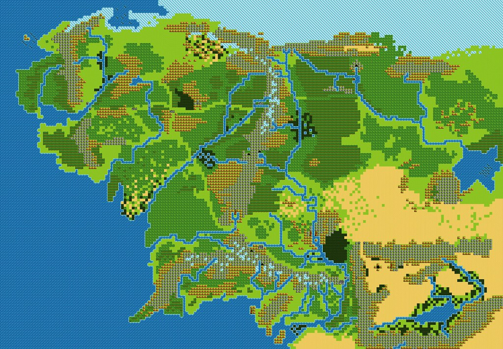 middle earth/dragon warrior 3-style vector map, v1.0 | Flickr on
