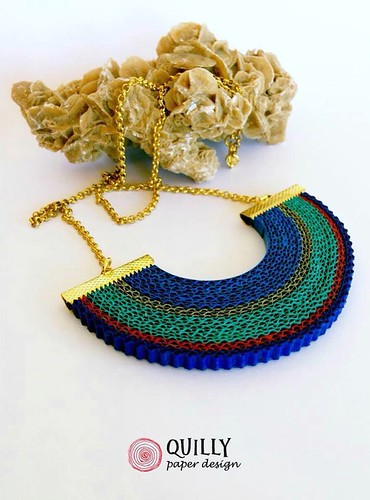Quilly Paper Design Crimped Paper Necklace | by all things paper