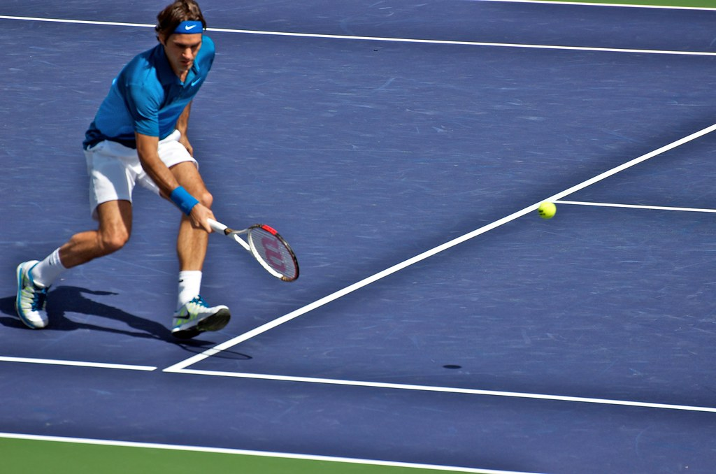 Roger Federer Volley Semi Bnp12 C Jfawcette 2201 C Jfawcette Jim Fawcette Flickr
