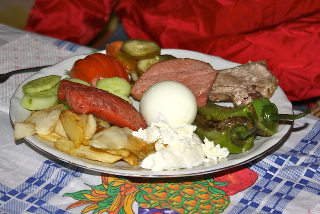 Dinner for guests in summertime - Tropoja - Albania