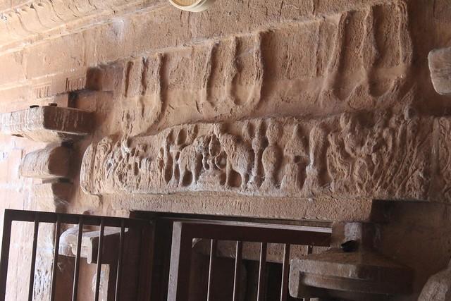 Above the sanctum entrance