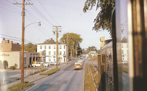 county street ohio train photo view south warren sixties 1963 trumbull 422