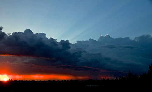 city blue trees sunset red sky urban canada storm calgary clouds canon landscape alberta 7d thunderstorm nationalgeographic jpandersenimages