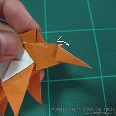 วิธีพับกระดาษเป็นรูปหมี (Origami Bear) 035