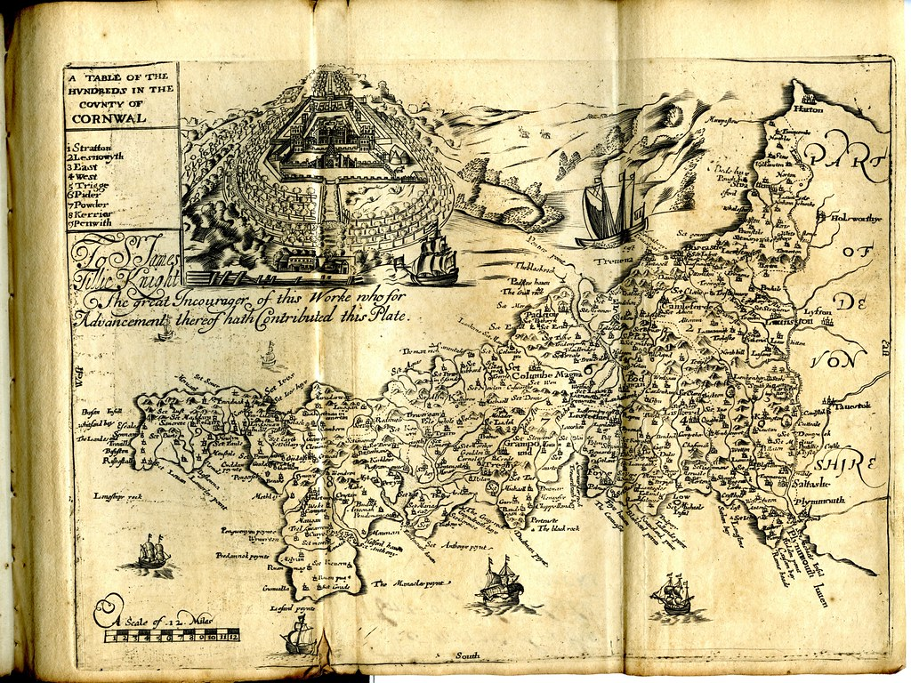 Maps of England circa 1670, Cornwal 8 of 40 | 38 old maps of… | Flickr