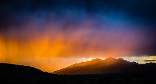 sunset summer sky cloud mountain nature weather evening us colorado unitedstates outdoor dusk fortgarland serene blancapeak