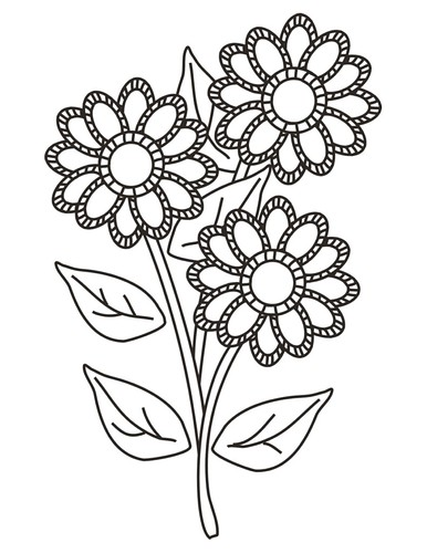 flower coloring page copy | by Cherry Street Cottage