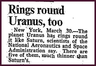 30th March 1977 - Rings detected round Uranus | by Bradford Timeline