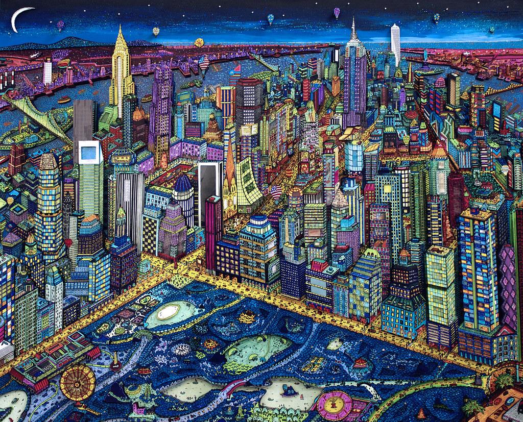 New York City by night 3D, by Johann Perathoner | Johann a d… | Flickr