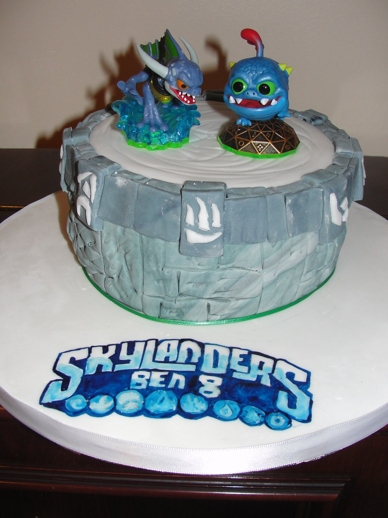 Fabulous Skylanders Portal Of Power Birthday Cake Ok So I Cheated Flickr Personalised Birthday Cards Veneteletsinfo