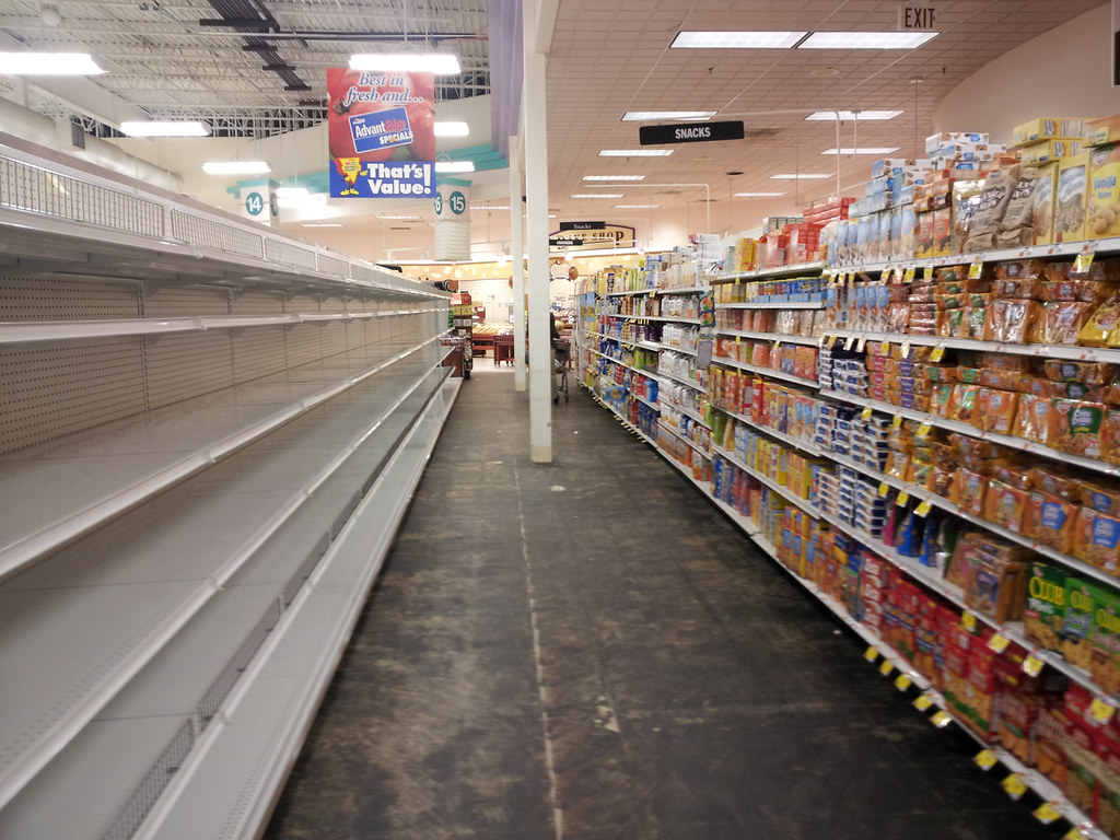 Empty shelves at a grocery store | Nope not a natural disast… | Flickr