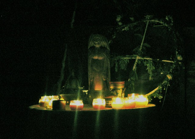 Altar by candlelight