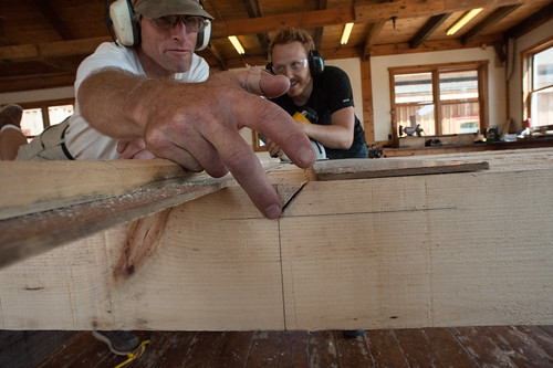 Peter & Tyler Prepping Gang Cut for Rafters | by goingslowly
