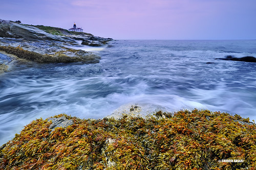 ocean longexposure ri morning lighthouse seascape colors sunrise landscape duck ancient rocks wave atlantic rhodeisland beavertail jamestown attraction beavertaillighthouse shobeiransari