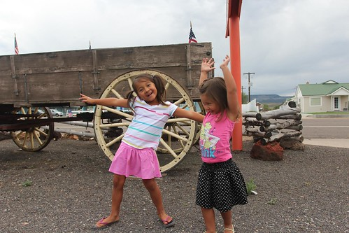 Day 2: Leaving Cedar City with a new set of tires.   by Mali Mish