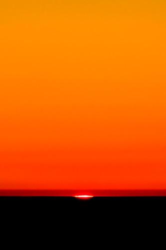 sunset orange sun end