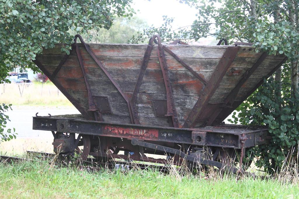 Q wagon at the display board bottom of the Blackball Range